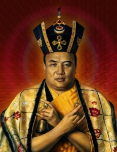 16th Karmapa wearing the Black Crown