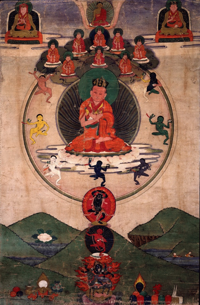 Thangka painting of the 8th Karmapa Miky Dorje