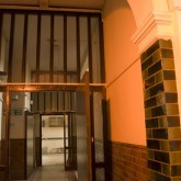 The first corridor on the right as you come in the Beaufoy Institute