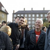Lama Ole and friends outside the Beaufoy