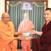 H.H. Karmapa together with Sadguru Pujya Kothari Swami 