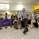 Lama Ole Nydahl arrives in Heathrow 13 July 2012