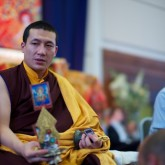 H.H. Karmapa giving blessing during the initiation, 15 July 2012