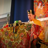 H.H. Karmapa giving the initiation of White Dzambhala, London 15 July 2012