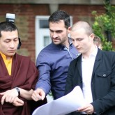 The project architects introduce the plans for the Beaufoy to H.H. Karmapa