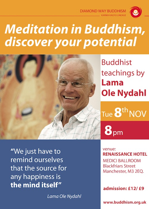 Lama Ole Nydahl in Manchester 2011