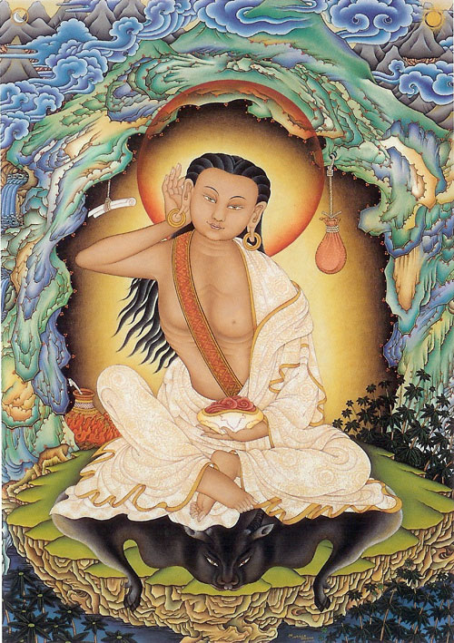 Milarepa (10521135) (painting by Robert Beer)