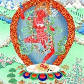 Red Wisdom Thangka
