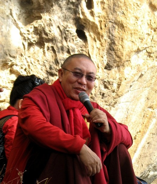 Shangpa Rinpoche at Maitrikara Cave, Nepal