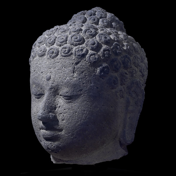 Borobudur Buddha head in the British Museum